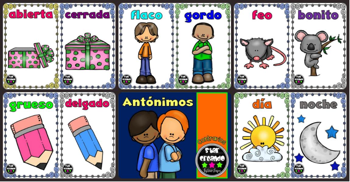 70 Los Opuestos Fichas Con Dibujos Para Preescolar