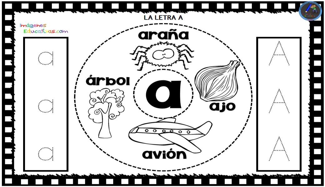 abecedario formato cd para colorear y repasar