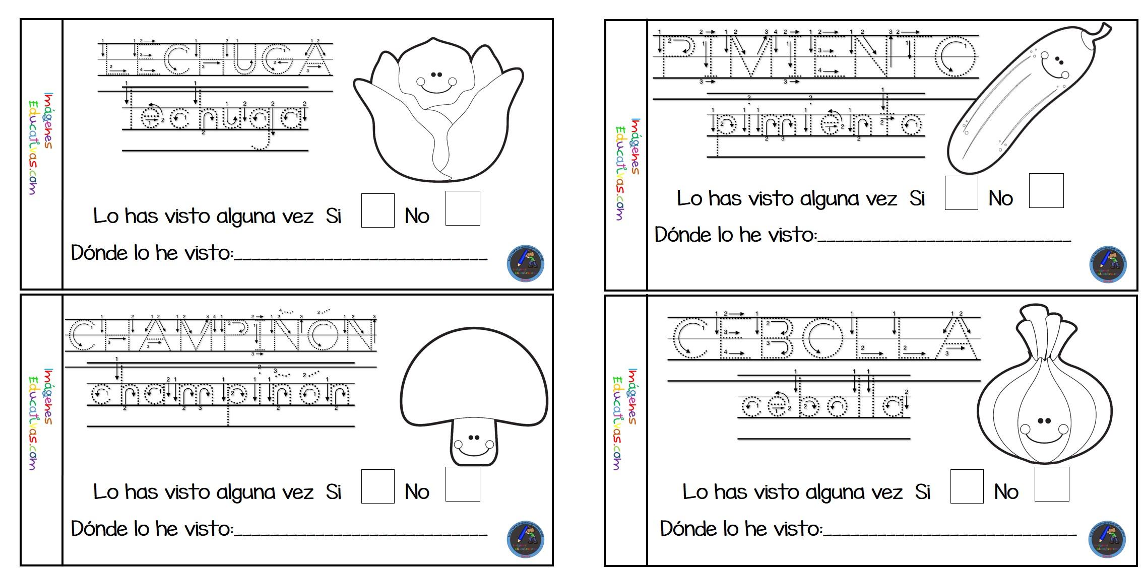 Libreta Para Niños Con 25 Dibujos Para Colorear: Mi Cuaderno Para Colorear Frutas Y Verduras (5)