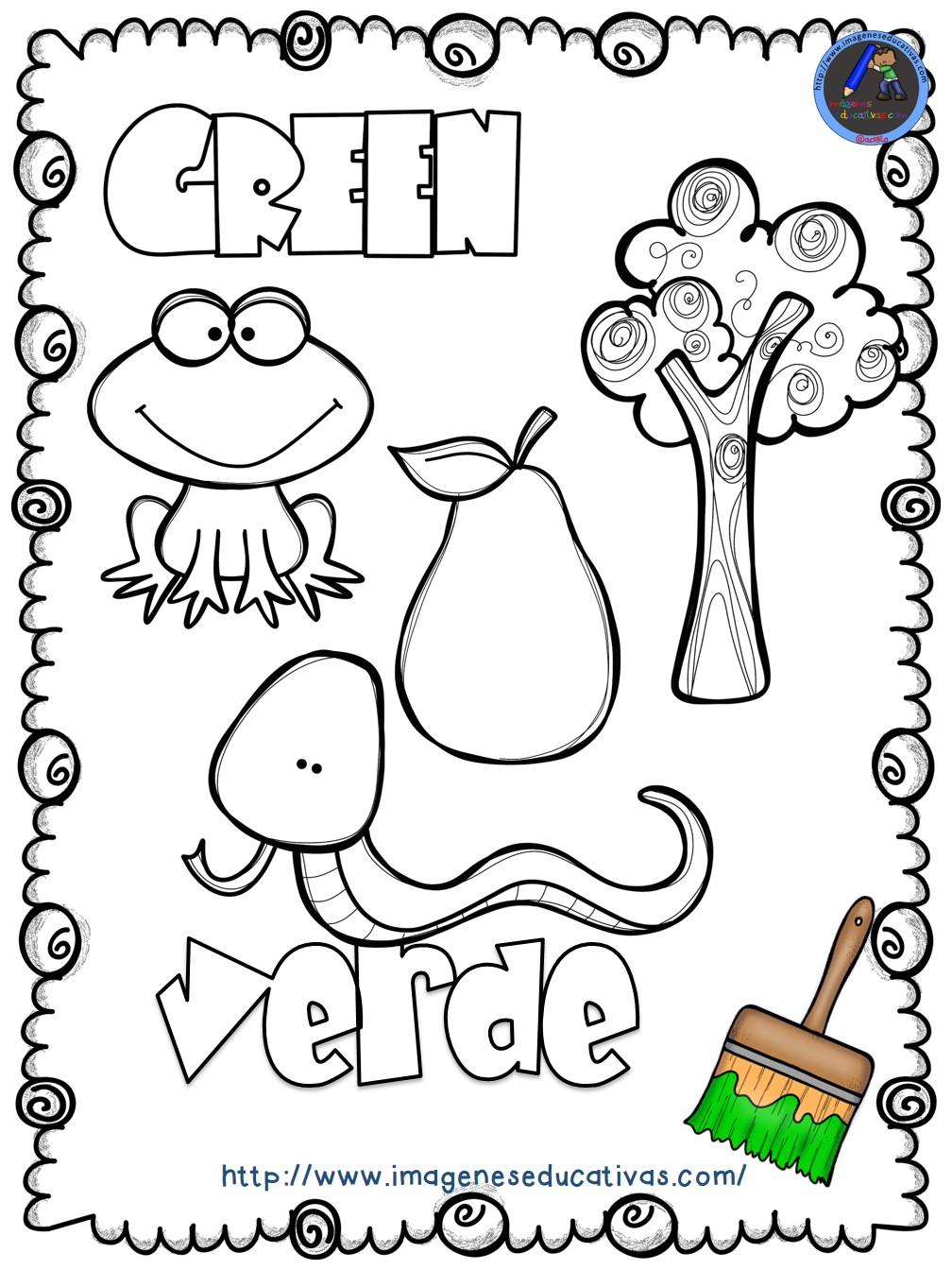 Mi libro de los colores para colorear 6 imagenes for Actividades para jardin infantil