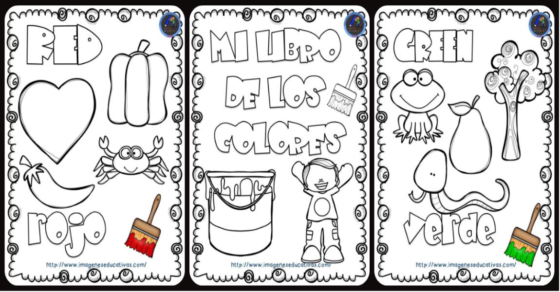 Imagenes Educativas Para Descargar: Mi Libro De Los Colores Para Colorear