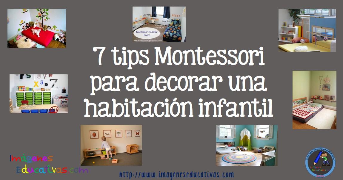 7 tips montessori para decorar una habitaci n infantil for Consejos para decorar una habitacion