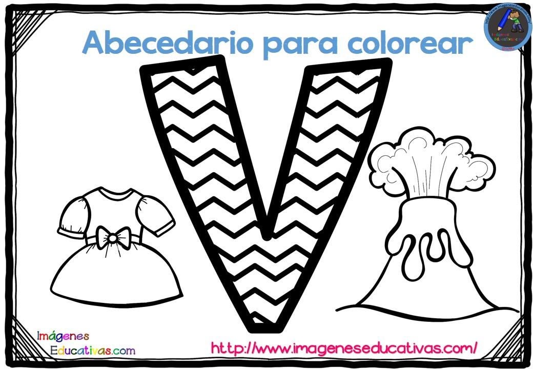 Fichas Del Abecedario Para Colorear Niños De Infantil Y: Abecedario Para Colorear Listo Para Descargar E Imprimir