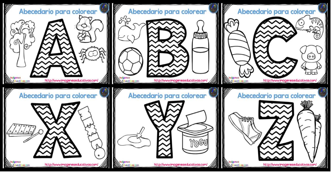 Contemporáneo Páginas Para Colorear De Abc Para Niños Pequeños Fotos ...