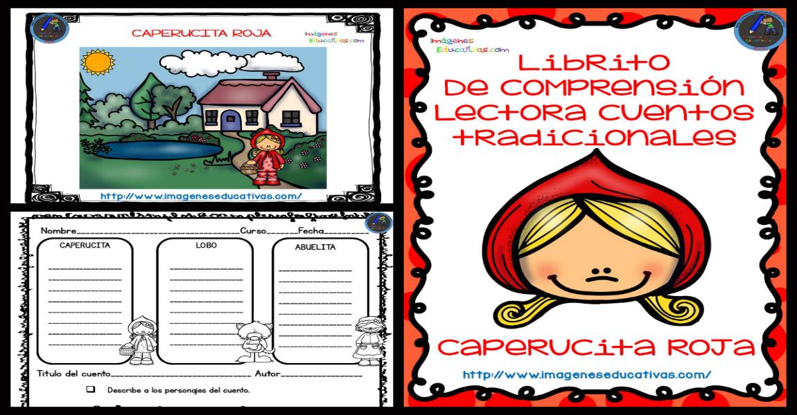 Dibujos De Caperucita Roja Para Colorear E Imprimir: Caperucita Rota, Fichas De COMPRENSIÓN LECTORA + Cuento