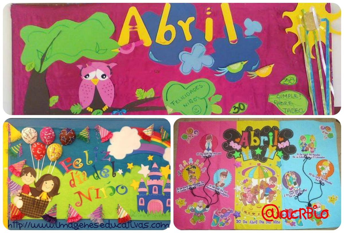 Ideas para el peri dico mural del mes de abril 2017 for Abril salon de fiestas