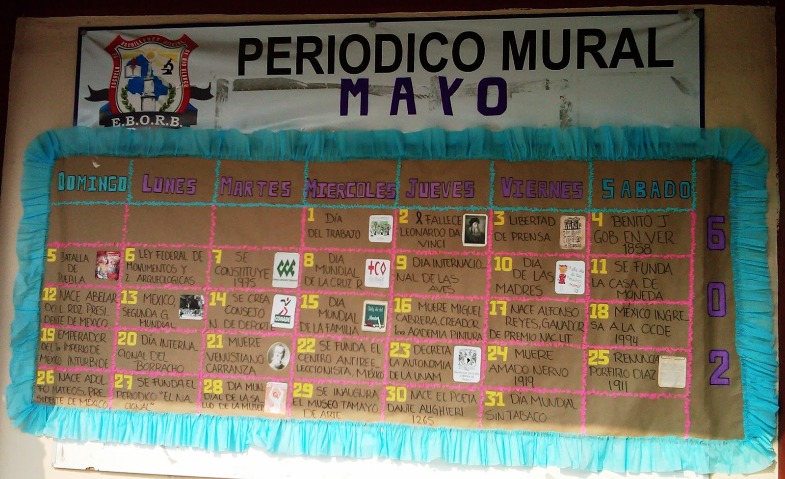 Peri dico mural mayo mes de las madres 23 imagenes for Componentes de un periodico mural