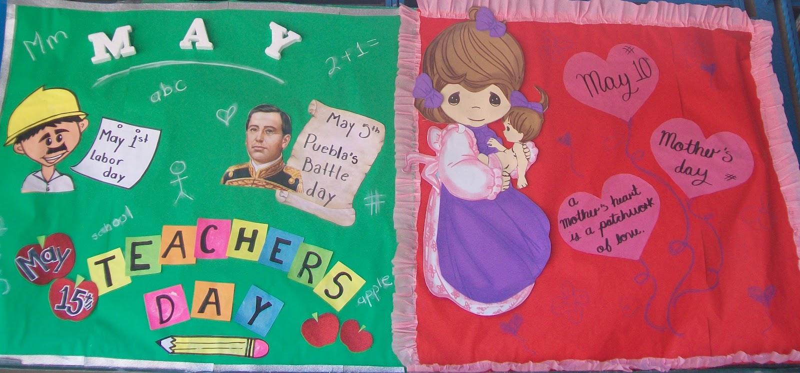 Peri dico mural mayo mes de las madres 25 imagenes for Diario mural en ingles