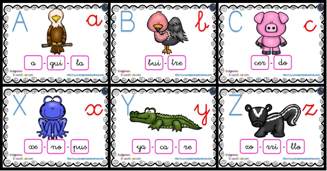Imagenes Educativas Para Descargar: ABECEDARIO Silábico Listo Para Descargar E Imprimir Y