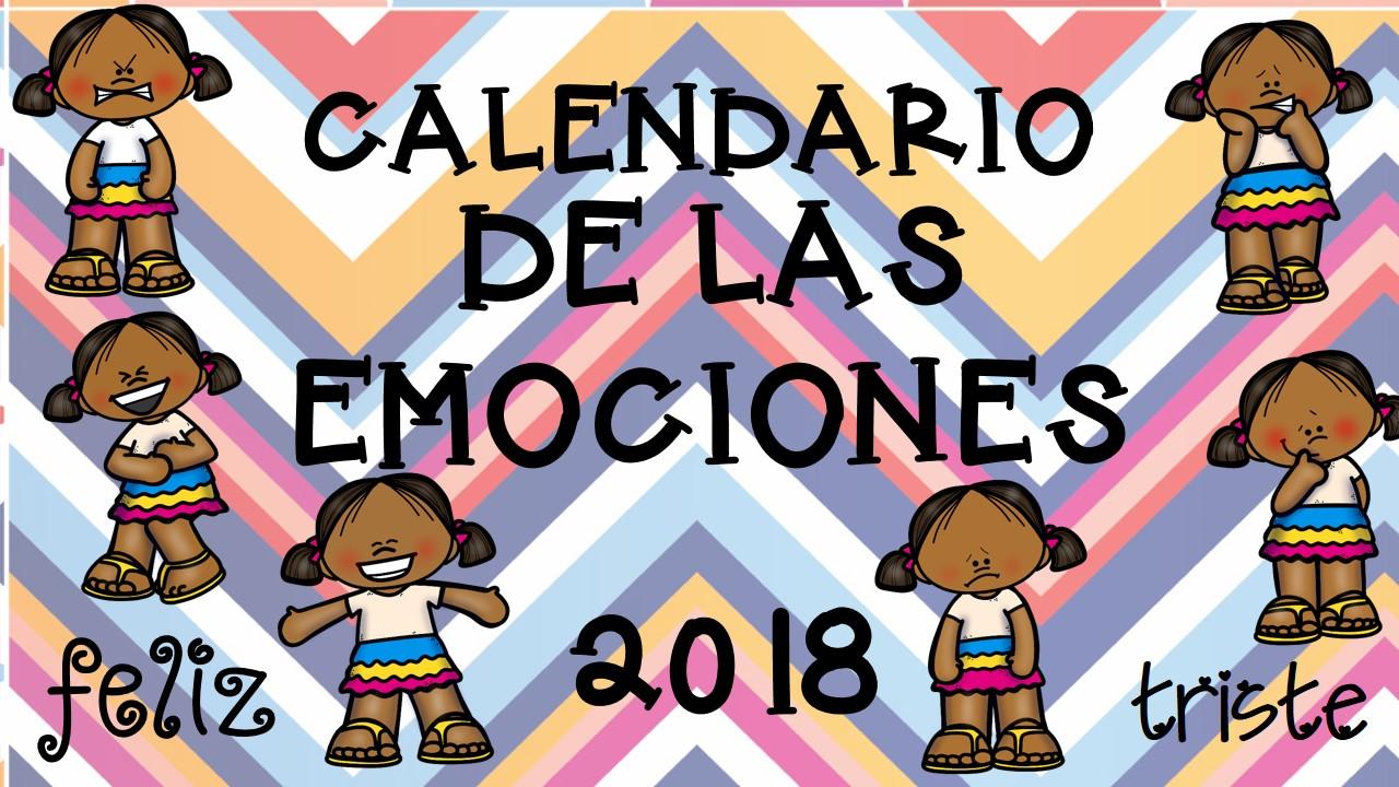 calendario 2018 trabajamos las emociones