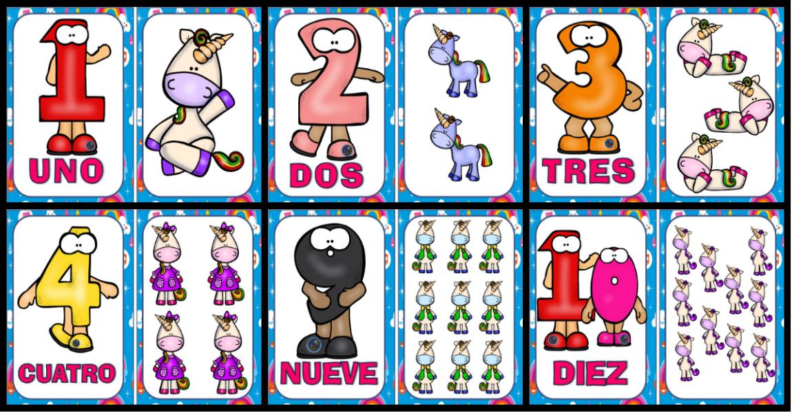 Numero 10 Con Imagenes: Tarjetas Para Trabajar Los Números De 0 Al 10
