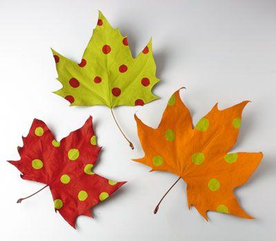 Hojas oto o 27 imagenes educativas - Decorar hojas de otono ...
