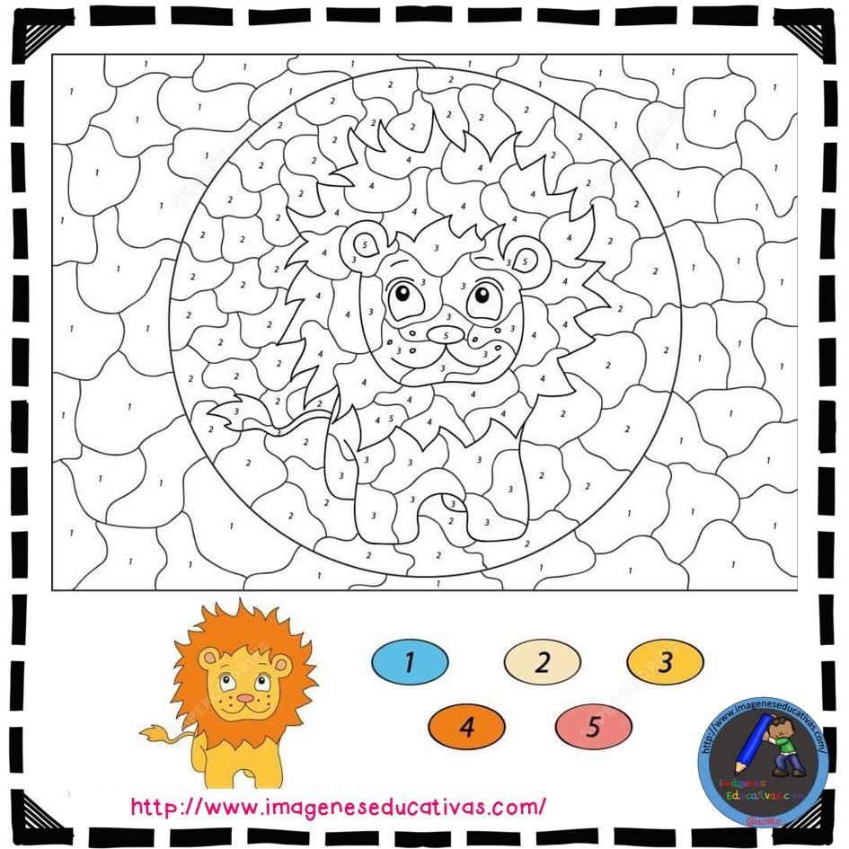 Colorear por números (1) - Imagenes Educativas
