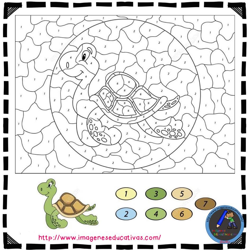 Colorear por números (21) - Imagenes Educativas