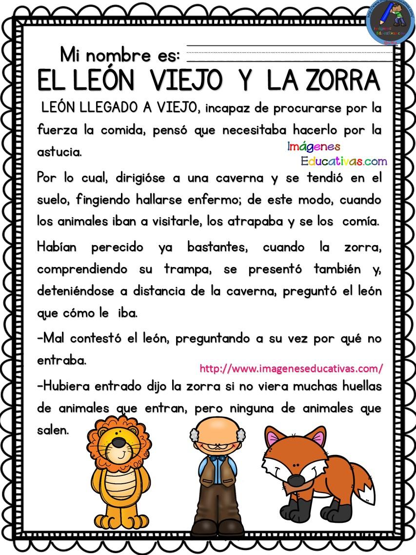 Lecturas comprensivas fábulas ESOPO (4) – Imagenes Educativas