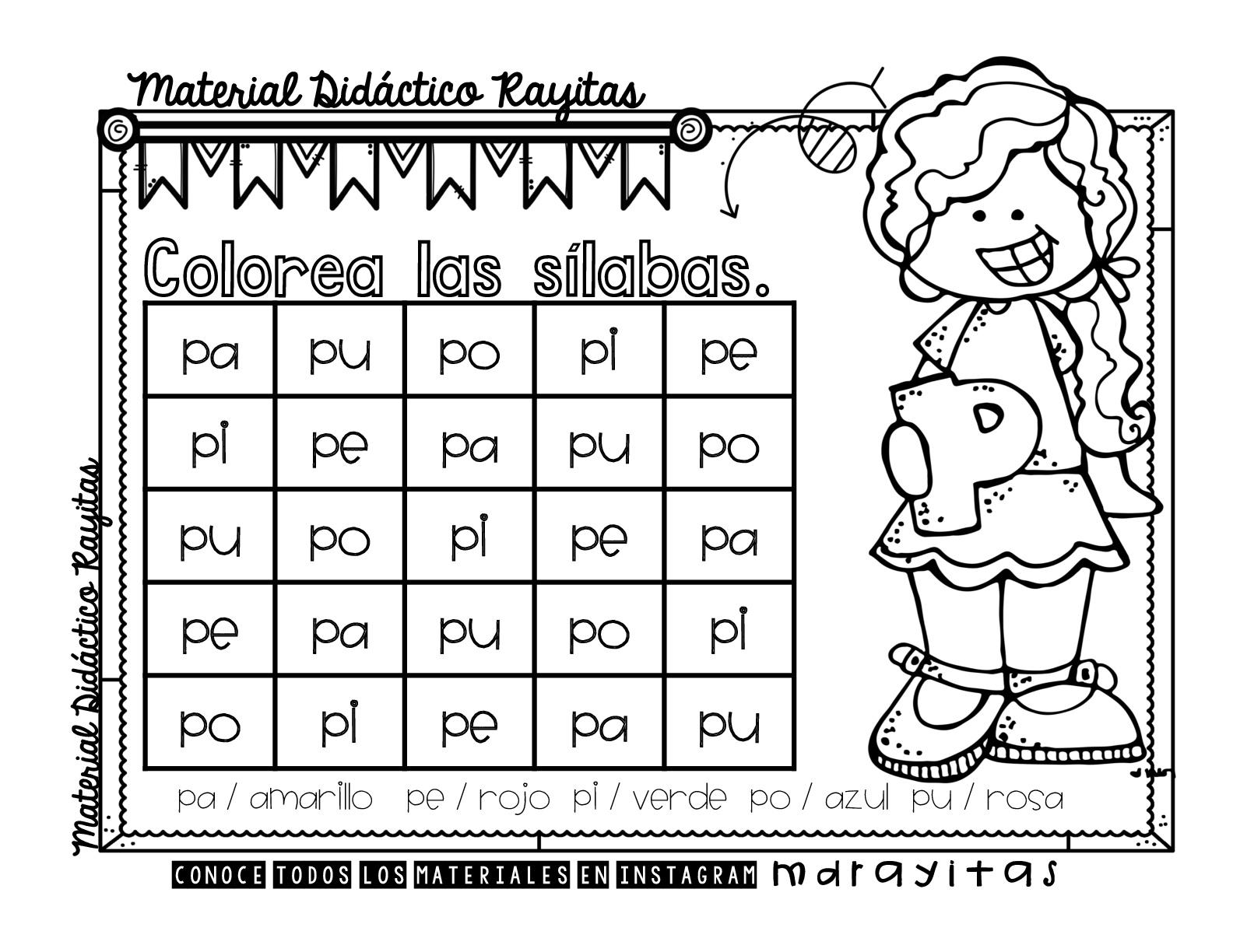 Sopas de letras para practicar las silabas simples (15) – Imagenes ...