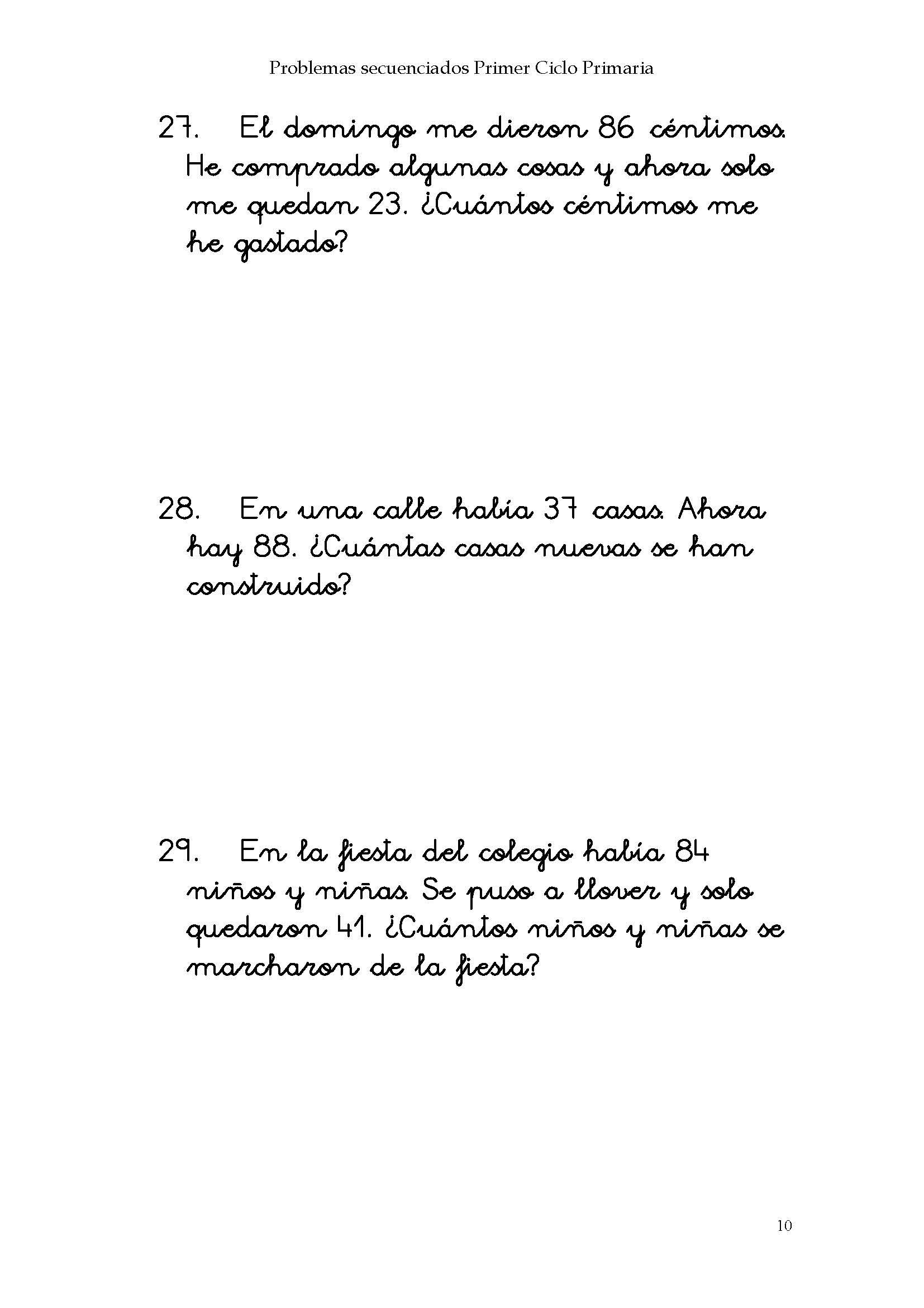 Problemas Matematicos Pagina 012 Imagenes Educativas